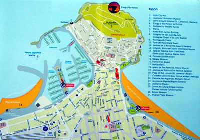Gijon Spain Map.Asturias Guide Gijon Historic Old Town Spain